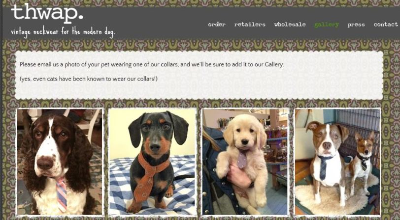 Fashion Friday. Dog fashion. Dog ties. Dog Clothes. Thwap dog tie collars.